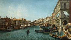 size: Giclee Print: View of the Grand Canal from the Riva Del Vin and Riva Del Carbon by Alessandro Bonvicino Moretto : Artists Grand Canal, Giclee Print, Artist, Painting, Products, Wine, Artists, Painting Art, Paintings