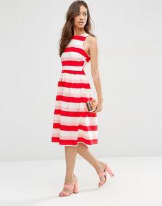 Image 1 ofASOS Midi Dress In Stripe