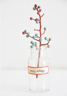 A natural Christmas decoration...I love it!