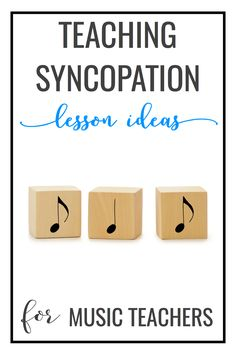 Lots of songs and games to teach syncopation in elementary music, such as Bump up Tomato and Four White Horses.