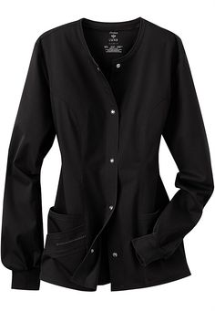 Cherokee Luxe Collection stretch scrub jacket. Main Image