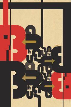 Modern take on Bauhaus poster.