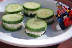 Snack Time: Turkey Cucumber Wheels used the 1/3 less fat cream cheese with Tastefully Simple Dill Pickle dip mix in it