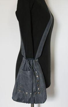 Skrawek Natury - pewter leather bag with nailheads Pewter, Leather Bag, Bags, Etsy, Fashion, Tin, Handbags, Moda, Fashion Styles