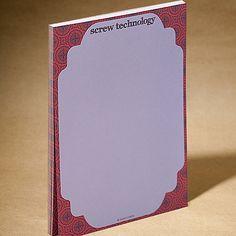 Screw Technology notepad