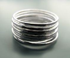 Stacking skinnies - 9 rings