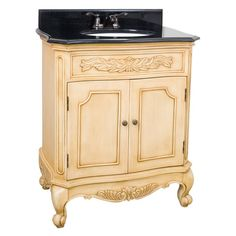 Bath Elements 30.5 In. Clairemont Buttercream Single Bathroom Vanity With  Optional Mirror $553.5