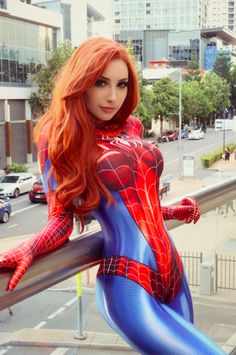 """steam-and-pleasure: """"Beke Jacoba as Mary Jane Watson in the Spider-man suit """" Cosplay Outfits, Cosplay Girls, Cosplay Costumes, Spider Girl, Spider Women, Marvel Cosplay, Squirrel Girl, Mary Jane Watson, Strip"""