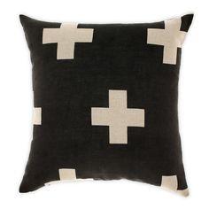 Image of Black crosses cushion - 50 x 50 cm