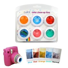 Fujifilm Instax Mini 8 Kitty Instant Camera Colorful Filters Round Heart Shape Camera Close Up Lens 6 PCS/Set Polaroid Instax Mini, Fujifilm Instax Mini 8, Camara Fujifilm, Camera Aesthetic, Polaroid Pictures, Polaroids, Dslr Photography Tips, Wedding Photography, Filter Camera