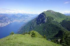 Malcesine mountain. View from Monte Baldo looking over Lake Garda