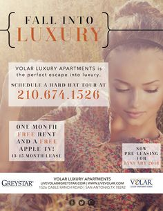 Fall into luxury with West Over Hills newest addition! Volar Luxury Apartments, in the middle of everywhere you want to be!