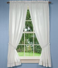Diamond Band Rod Pocket Curtains