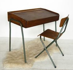 Simple and beautiful antique child's desk and chair