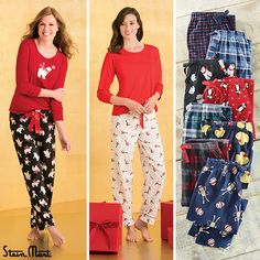 Sleepwear/Lounge Pants - These are great for all ladies in the family for lounging and keeping warm!