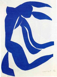 Henri Matisse - Blue nude with hair in the wind, 1952