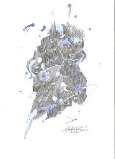 Illustration Art Contemporain Encre sur Papier : Dessins par elianapinzon