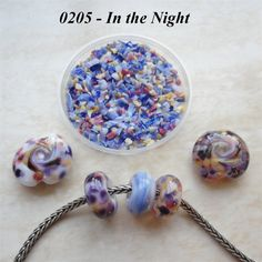 0205 In the Night  Glass Frit Blend  K1  COE by BeadTreasures4You