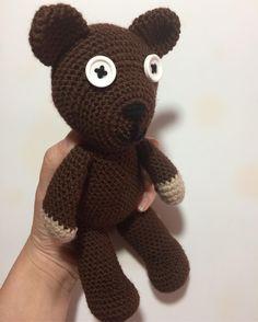 "1 Likes, 1 Comments - Raluca Drugan (@mygoldencrochet) on Instagram: ""Ever since I started crocheting, I promised myself I will make a #mrbeanteddybear. I finally…"""