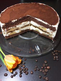 Tiramisu-Bananen-Torte…zum Dahinschmelzen lecker…mein 1. Bloggeburtstag – Backen mit Leidenschaft Aragon, Buttercream Cake, Chocolate Chip Cookies, Muffins, Bakery, Sweet Treats, Food And Drink, Yummy Food, Sweets