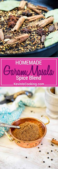 This Indian Garam Masala Spice Blend is an exotic mix of warm spices. I show you how to make it with most pantry spices or purchased from bin markets. via @keviniscooking