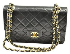 Get one of the hottest styles of the season! The Chanel Lambskin Leather Double Flap Shoulder Bag is a top 10 member favorite on Tradesy. Save on yours before they're sold out! Chanel Shoulder Bag, Leather Shoulder Bag, Lambskin Leather, Black Leather, Top, Bags, Style, Black Patent Leather, Handbags