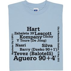 Manchester City vs QPR Line-Up T-Shirt. The match which saw City claim their first League Title in over 40 years in...