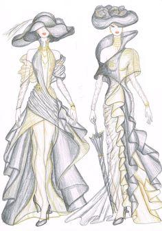 Dise o on pinterest for Dibujos de disenos de moda