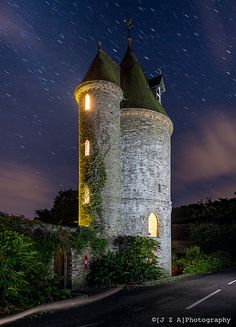 the fairytale water tower at NT's glorious Trelissick, Cornwall