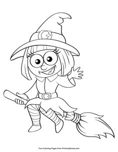 Free printable Halloween coloring pages for use in your classroom and home from PrimaryGames. coloriage halloween à imprimer Image Halloween, Halloween Clipart, Halloween Drawings, Halloween Crafts For Kids, Halloween Pictures, Halloween Art, Cute Halloween Coloring Pages, Witch Coloring Pages, Pattern Coloring Pages