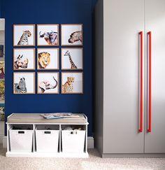 Kid's Room: DIY Watercolour Animal Gallery; Abigail Ahern inspired wardrobe || Arty Home