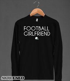 Football girlfriend long sleeve t-shirt