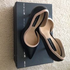 Cleaning out my closet!! Steven by Steve Madden adorable black and pink shoes worn ONLY ONCE! No scratches, scuffs, etc. EXCELLENT CONDITION. Size 7. Steven by Steve Madden Shoes Heels