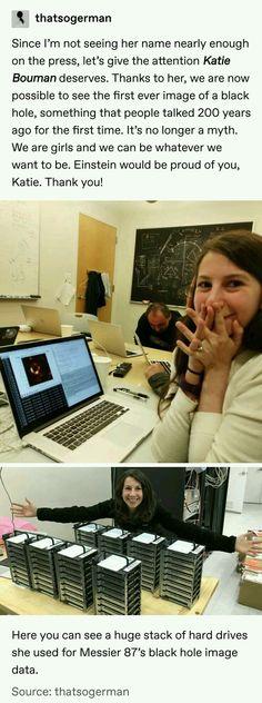 """Katie Bouman, an MIT grad, helped develop a computer program while still in sc."