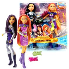 Year 2016 DC Super Hero Girls Series 2 Pack 12 Inch Doll Figure - Intergalactic Sisters BLACKFIRE and STARFIRE with Starbolts Starfire Dc, Dc Comics Collection, Barbie Kitchen, Sibling Rivalry, Dc Super Hero Girls, Girls Series, Teen Titans Go, Disney Dolls, Warrior Princess