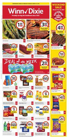 Winn Dixie Weekly Ad March 8 - 14, 2017 - http://www.olcatalog.com/grocery/winn-dixie-weekly-ad.html
