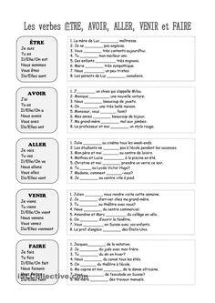 Etre et avoir au présent - Ce1 - Exercices à imprimer - Pass Education | French | Pinterest ...