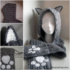 Cuddly Cat Crochet Scoodie - Free Pattern