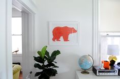 Use a colorful silhouette for bright and easy DIY art. | 13 DIY Projects To Make Your Home More Colorful