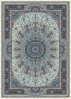 Teppich orientalisch 200x300 cm, Wolle, blau, beige, Dichte 1 000 000 kn/m2 !!!