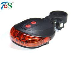 Tos luz de la bici 5led 2 laser 7 modo de flash luz trasera para bicicleta accesorios para bicicletas luz de advertencia de láser intermitente
