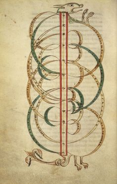 """openmarginalis:  """"De Musica"""", Boethius, ca. 12th century via National Library NZ, No Known Copyright Restrictions """"This is a manuscript about the theory of music. It was copied probably in England at Christ Church, Canterbury, in the second quarter of the twelfth century. Its main focus is the mathematical basis of music, and the beautifully-drawn diagrams with their graceful arches illustrate the mathematical ratios which produce the various intervals in the musical scale. Sometimes these…"""
