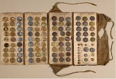 19th century button manufacturer's sample book.