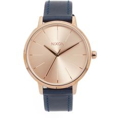 Nixon Kensington Leather Watch (8,030 INR) ❤ liked on Polyvore featuring jewelry, watches, nixon watches, nixon jewelry, leather wrist watch, leather band watches and leather wrist band watch