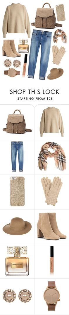 """""""These are a few of my favorite beige things!"""" by elisenotelsie ❤ liked on Polyvore featuring The Row, Frame, Burberry, Michael Kors, Bottega Veneta, Armani Jeans, Yves Saint Laurent, Givenchy, Bobbi Brown Cosmetics and Marchesa"""