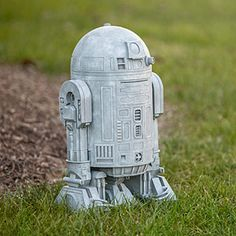 Since this Star Wars R2-D2 Lawn Ornament looks like it's made from concrete, you might assume it's not really doing anything. But it silently watches all the goings-on around it in your yard or garden.