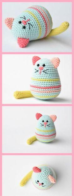 Amigurumi Egg Shaped Cat