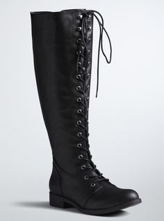 Torrid Lace Up Tall Riding Boots (Wide Width & Wide Calf) $72.50