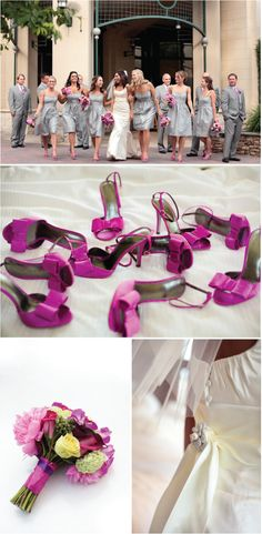 Grey and pink wedding inspiration.