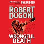 I just finished listening to Wrongful Death (Unabridged) by Robert Dugoni, narrated by Dan John Miller on my #AudibleApp. https://www.audible.com/pd?asin=B002V8KSP6&source_code=AFAORWS04241590G4